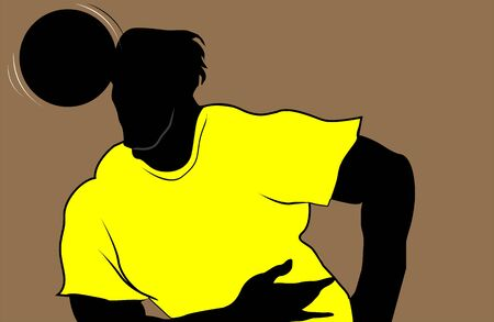 Illustration of silhouette of a football player illustration