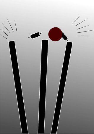 bails: Illustration of cricket stumps