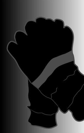 bails: Illustration of cricket gloves