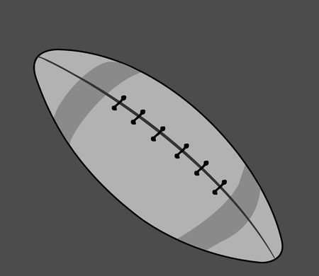 Illustration of a rugby ball Stock Illustration - 3456743
