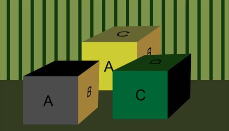 early childhood: Illustration of playing cubes