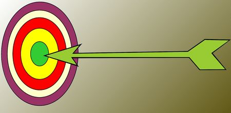 concision: Illustration of a target and arrow