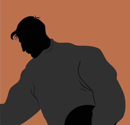 Illustration of a man holding discus  illustration