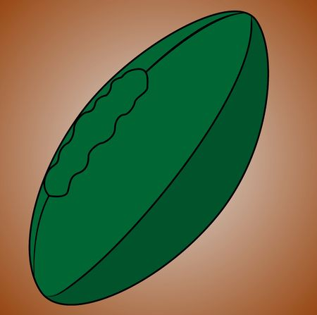 Illustration of a green rugby ball Stock Illustration - 3456772