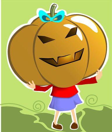 Illustration of a halloween lady Stock Illustration - 3458627
