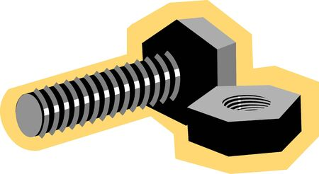 bolts and nuts: Illustration of a nut and bolt  Stock Photo