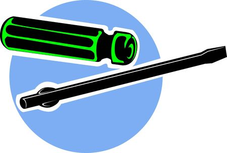 removable: Illustration of a removable screwdriver