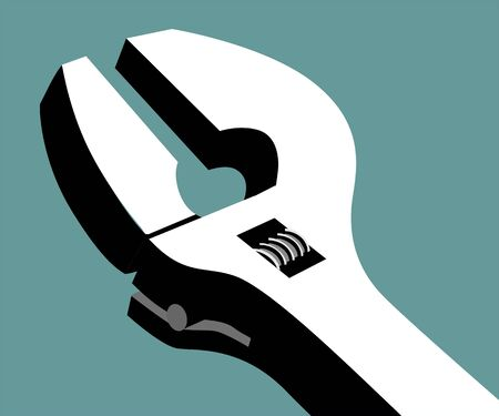 adjustable: Illustration of a adjustable spanner  Stock Photo