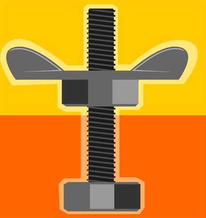 tighten:  nut and bolt Stock Photo