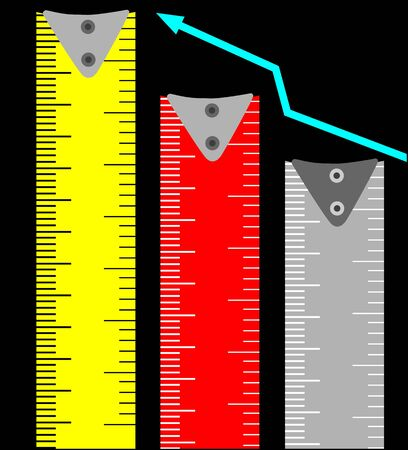 Illustration of a tape graph  Stock Photo