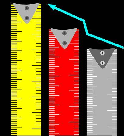 centimetre: Illustration of a tape graph  Stock Photo