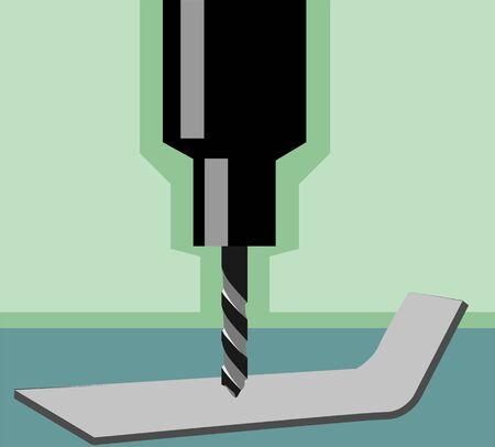 gimlet: Illustration of a driller machine�s bit