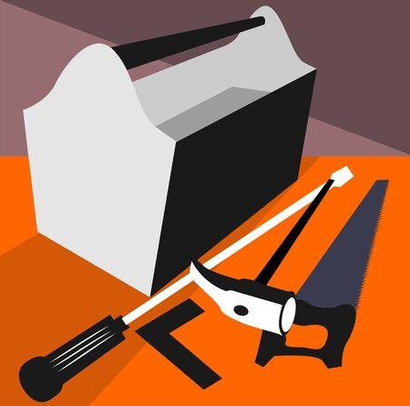 Illustration of a toolbox  illustration