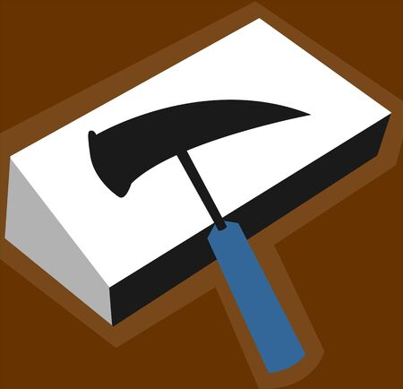 mallet: Illustration of silhouette of a hammer
