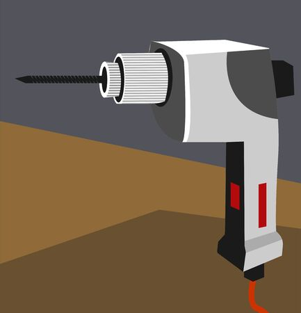 chord: Illustration of  drilling machine with chord