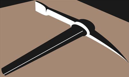 Illustration of a pick axe  illustration