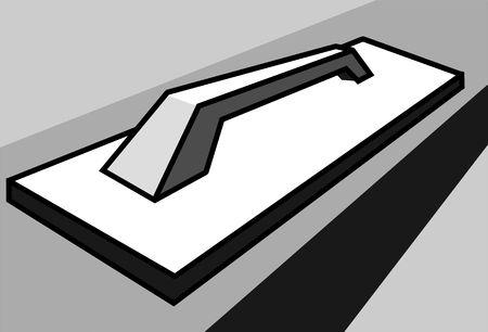 sander: Illustration of a sander using by masons