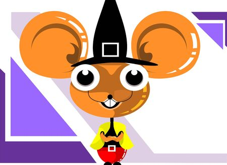 Illustration of a mice wearing a hat Stock Illustration - 3751835