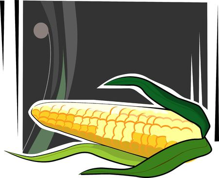 Illustration of a maize in black background  illustration