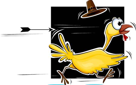 Illustration of a cartoon turkey fowl Stock Illustration - 3685204