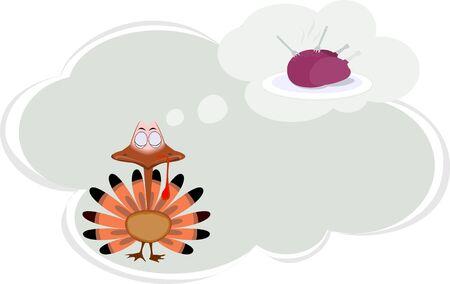 fowl: Illustration of a cartoon turkey fowl