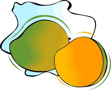 mango slice: mango and slice mango