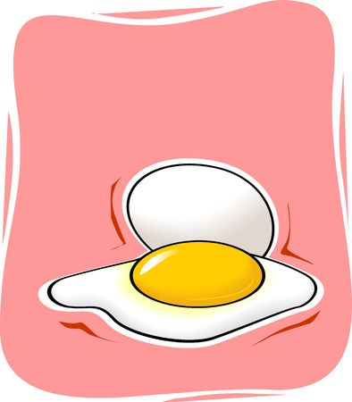 egg and fried eggs Stock Photo - 3805788