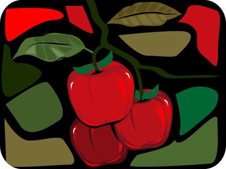 fruitful:  apple in cut colours