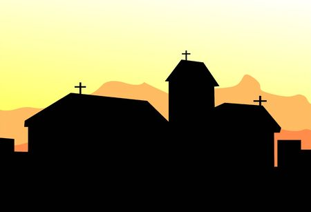 almighty: Illustration of a Christian church  Stock Photo