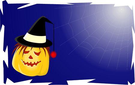 Illustration of a joker pumpkin Stock Illustration - 3881841