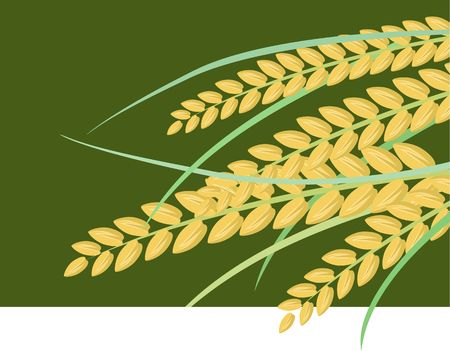 Illustration of a wheat in a green background Stock Illustration - 3919430