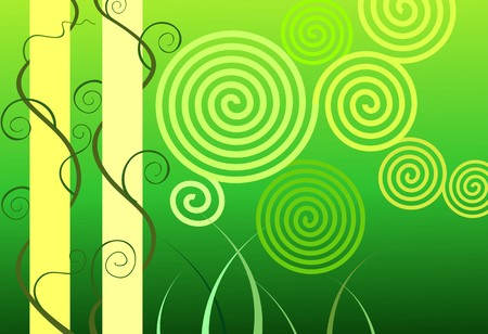 inertial: Illustration of art abstract in inertial green design background