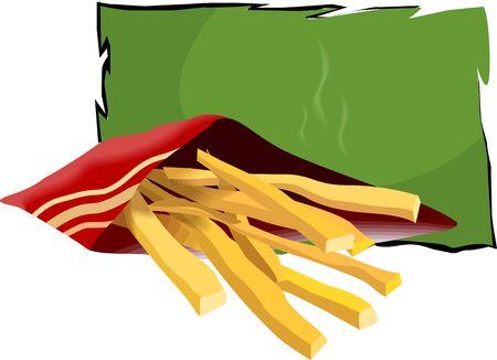 fell: Illustration of snacks fell down