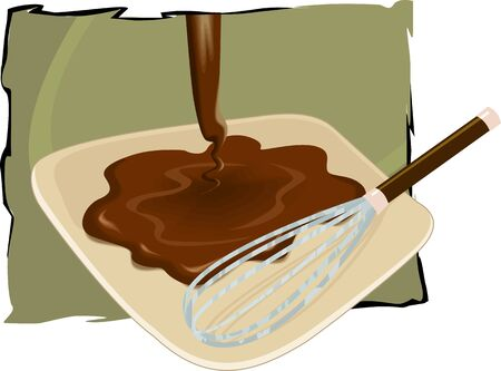 Illustration of a chocolate is making