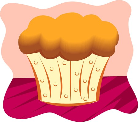 fruitcakes: Illustration of a cup cake with a background