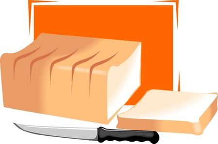 칼으로 절단 빵의 그림