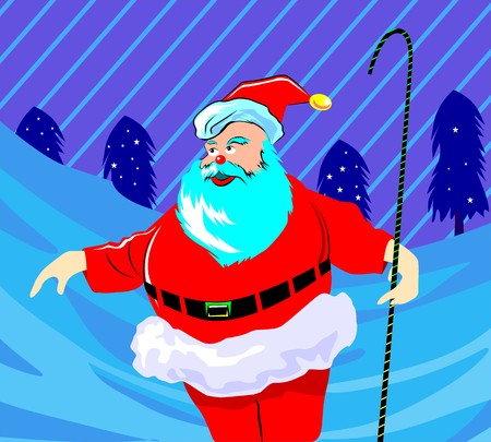 santaclause hat: Illustration of Santa clause standing