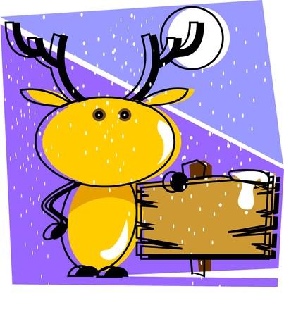 Illustration of Christmas deer  illustration