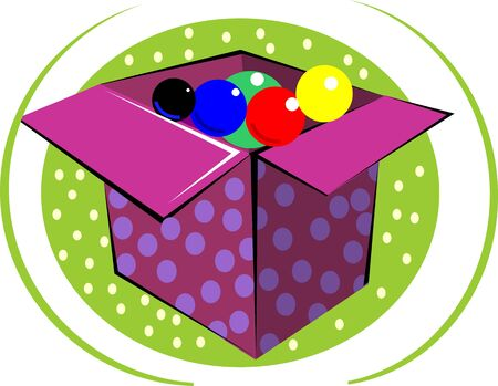 Illustration of gifts box and balloons  illustration