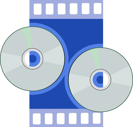Illustration of two CD  in blue shade background Stock Illustration - 4002502