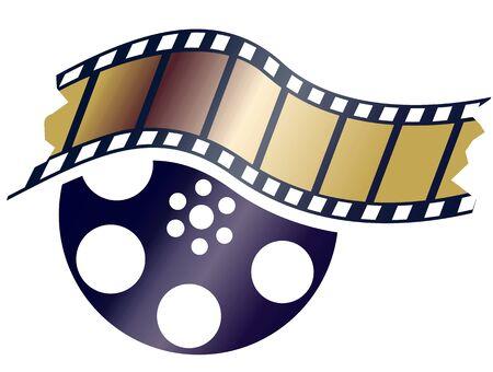 Illustration of film and designed illustration