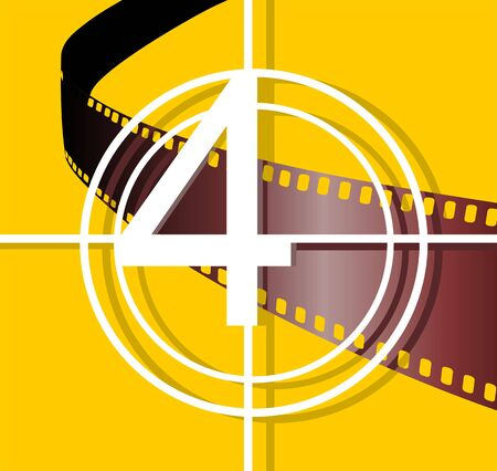Illustration of film with yellow colour  illustration