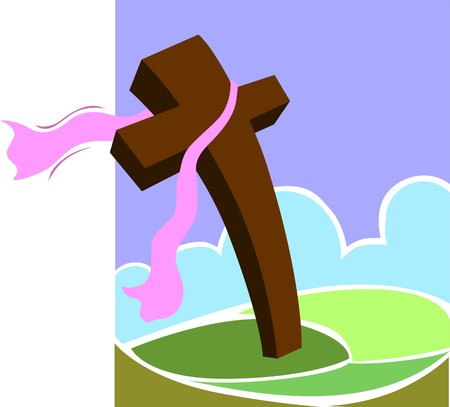 crucification: Illustration of a cross in background