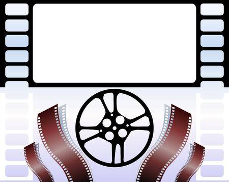 Illustration of Film with colour  illustration