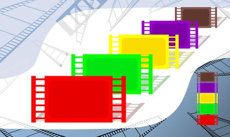 readout: Illustration of film with colour