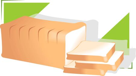 dieting: Illustration of peaces of bread in a green background