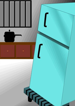 frig: Illustration of fridge