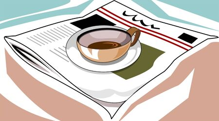 Illustration of a cup of coffee Stock Illustration - 4050554