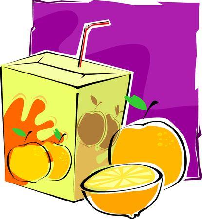 Illustration of a packet juice illustration