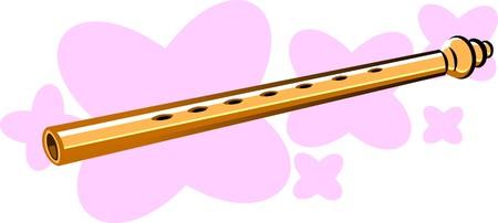 Illustration of flutes in pink background illustration